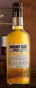 mount gay copper column bottle