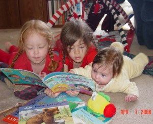 I know this picture is a few years old...but I love it! And I have loved sharing books with my children.