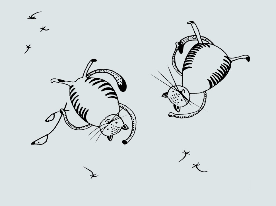 Sky diving cats2 by Some small stories