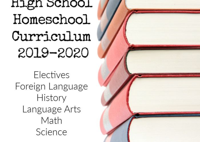 High School Homeschool Curriculum 2019-2020