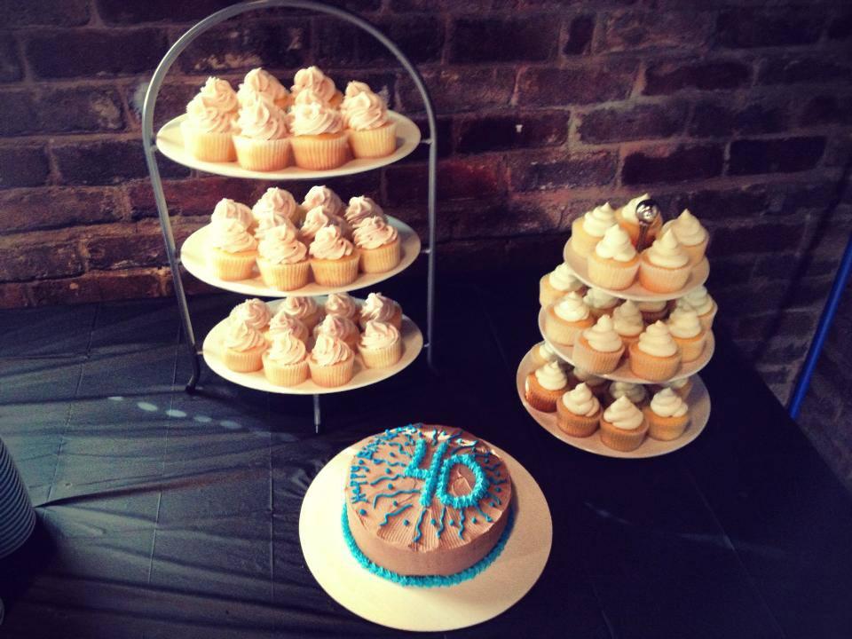 Big Boy Birthday Themed smash cake and birthday cupcakes