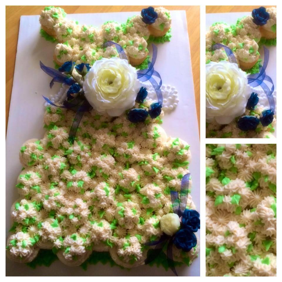 Mini Cupcake Bridal Shower Dress Cake