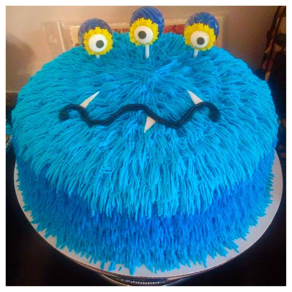 Monster Themed Birthday Cake