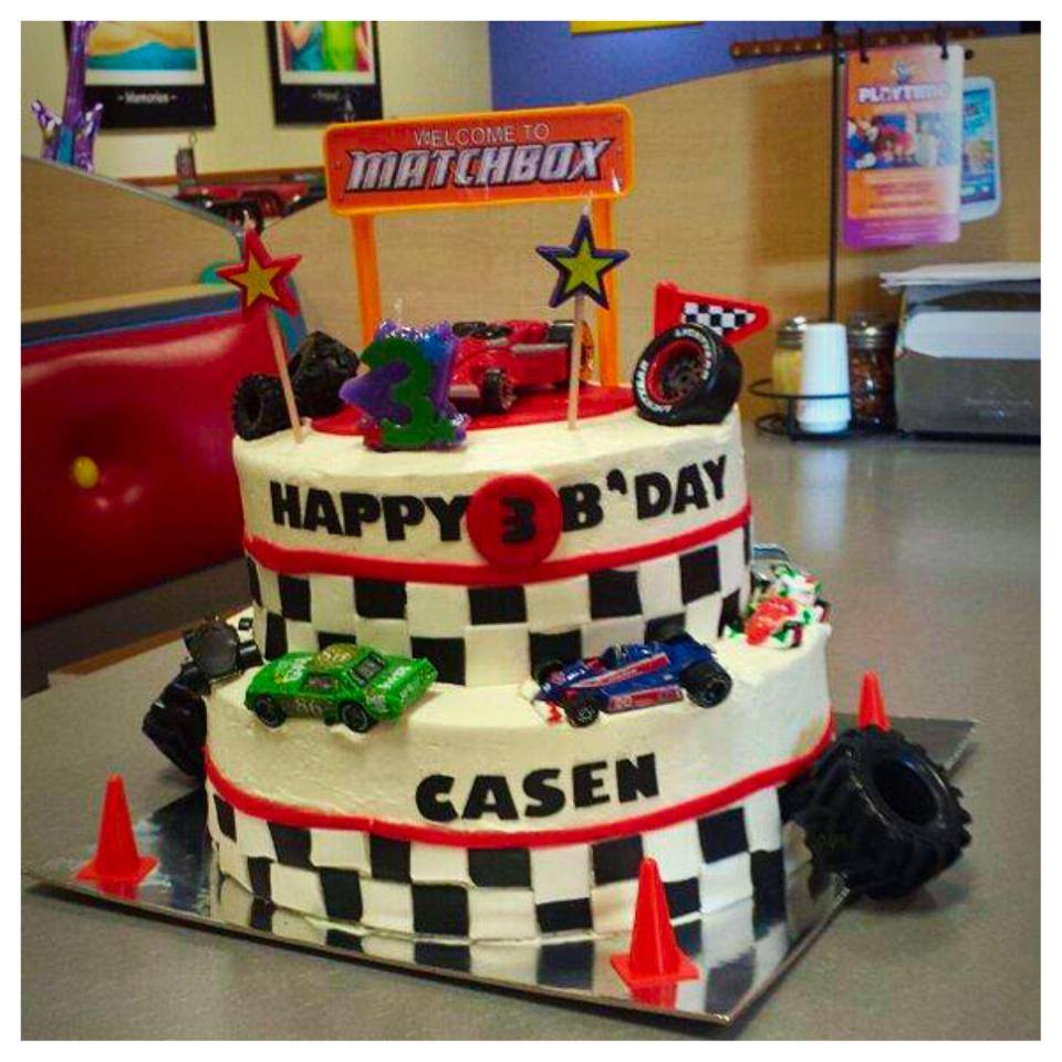 Matchbox Racing Themed Birthday Cake