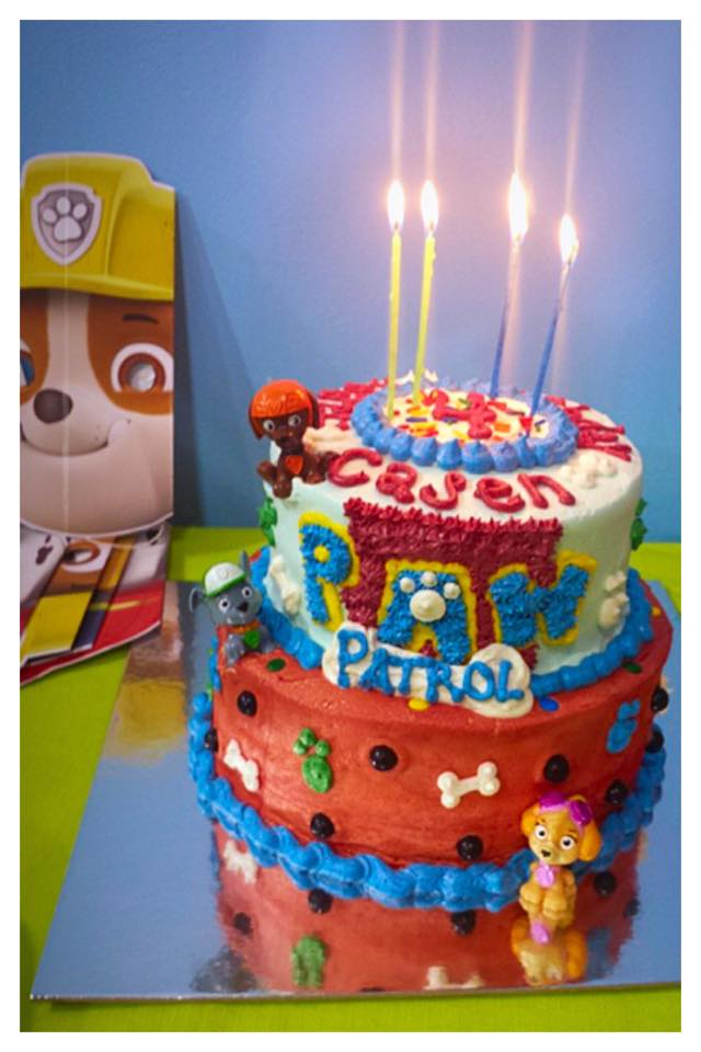 Paw Patrol Themed Birthday Cake with Buttercream Finish