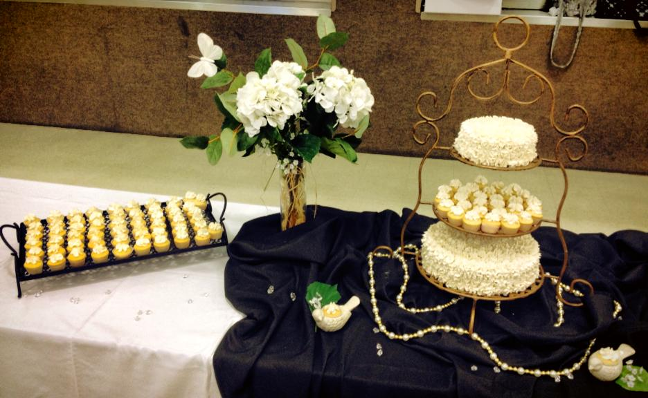 Marriage Conference Wedding Cake and Cupcakes