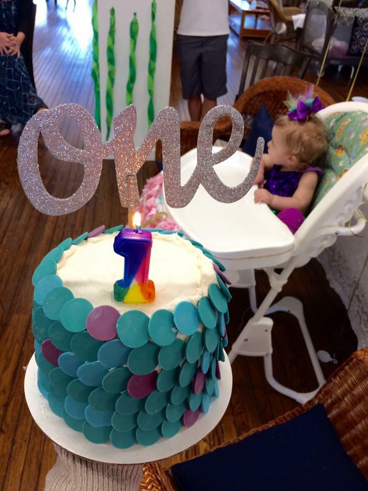 Mermaid Scale Birthday Smash Cake