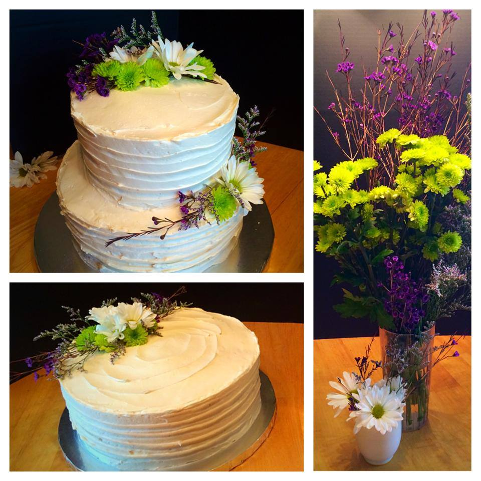 Wildflower Wedding Cake