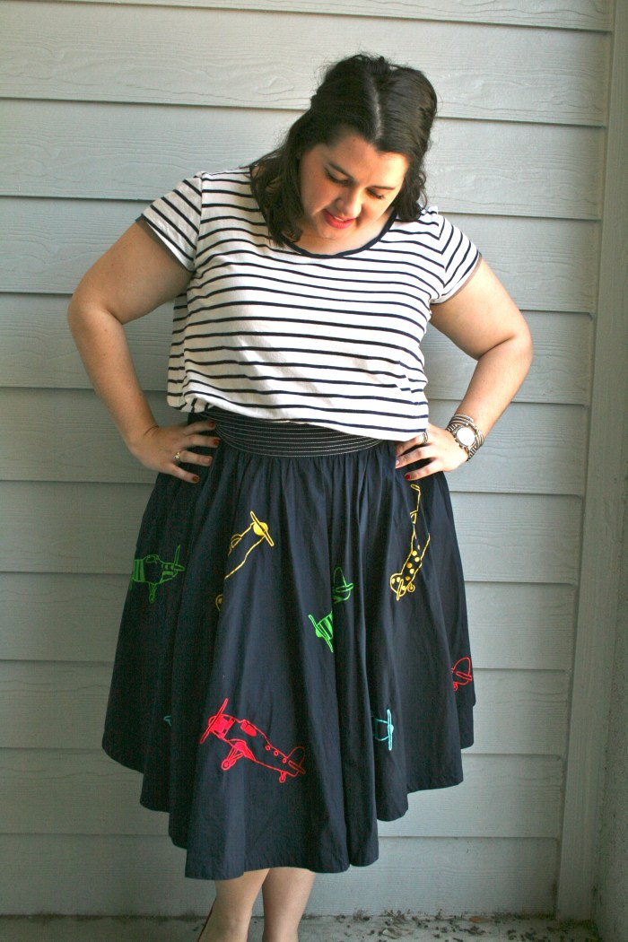 Airplane dress skirt