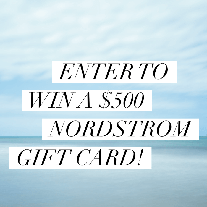 Holiday Giveaway #1: $500 Nordstrom Gift Card