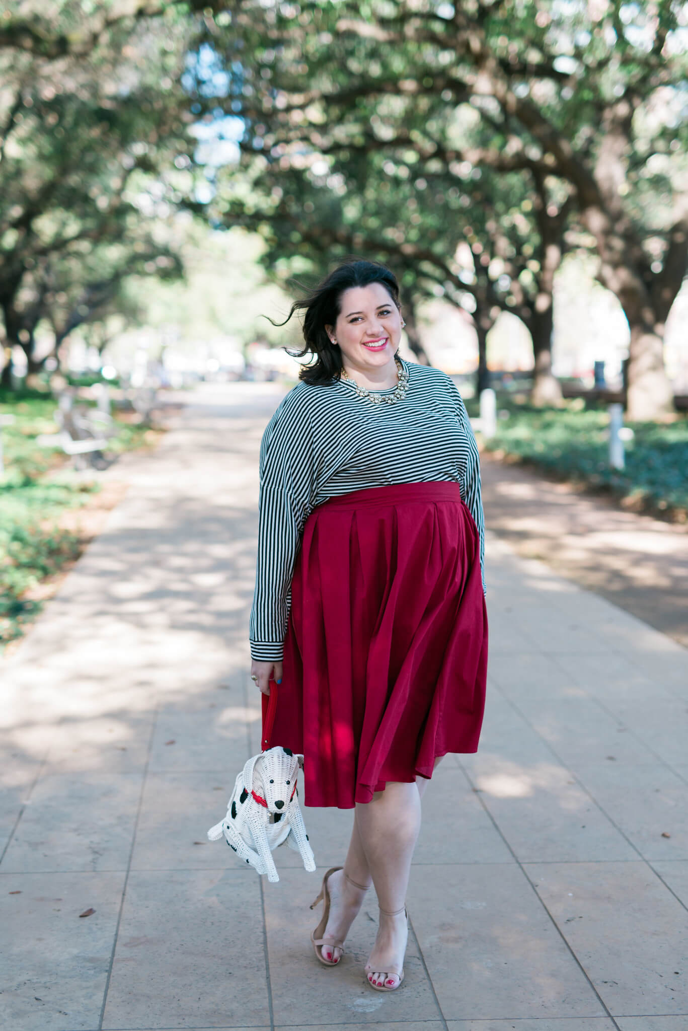 Puppy Love - Something Gold, Something Blue fashion blog - Dressing up a classic outfit with a puppy purse from Kate Spade