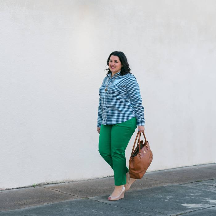 Notre Dame March Madness Work OUtfit - Something Gold, Something Blue style blog - What to wear to work to support your sports teams