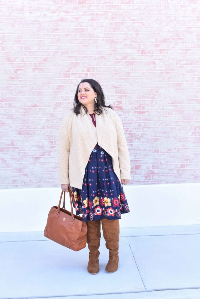 How to mix prints, spring dress, Mixing prints, Over the Knee Boots, Spring Style, Spring Outfit, What to Wear this Spring