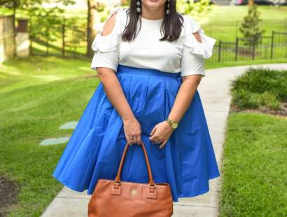#XOQ Style Challenge – Cold Shoulder Ruffle Top