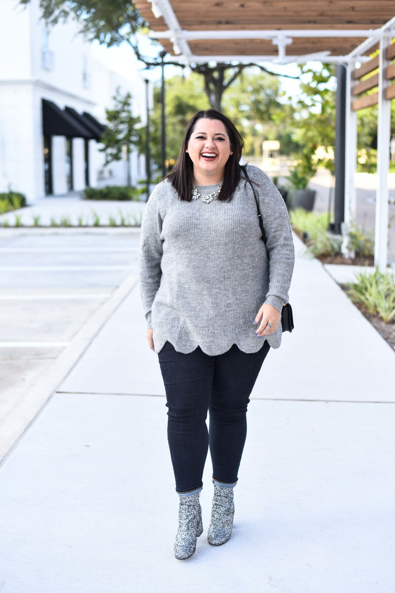 Scallop Hem Sweater from Lane Bryant