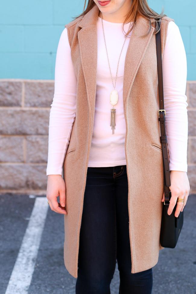 The Camel Blazer Vest | Something Good, gap, wool blazer vest
