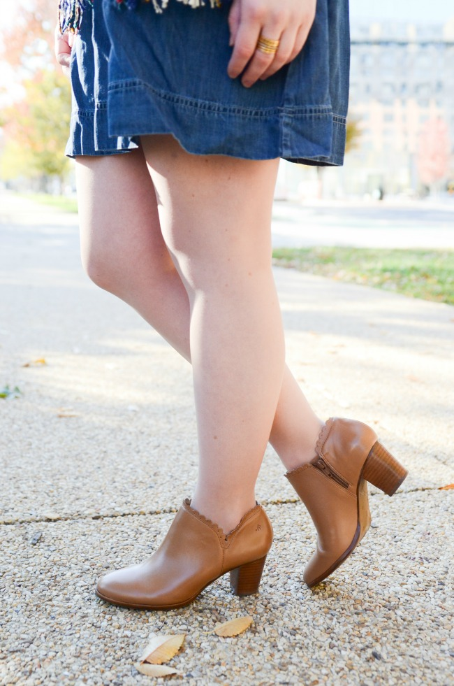 The Denim Dress (Part 2) | Something Good, jack rogers ankle boots, marianne