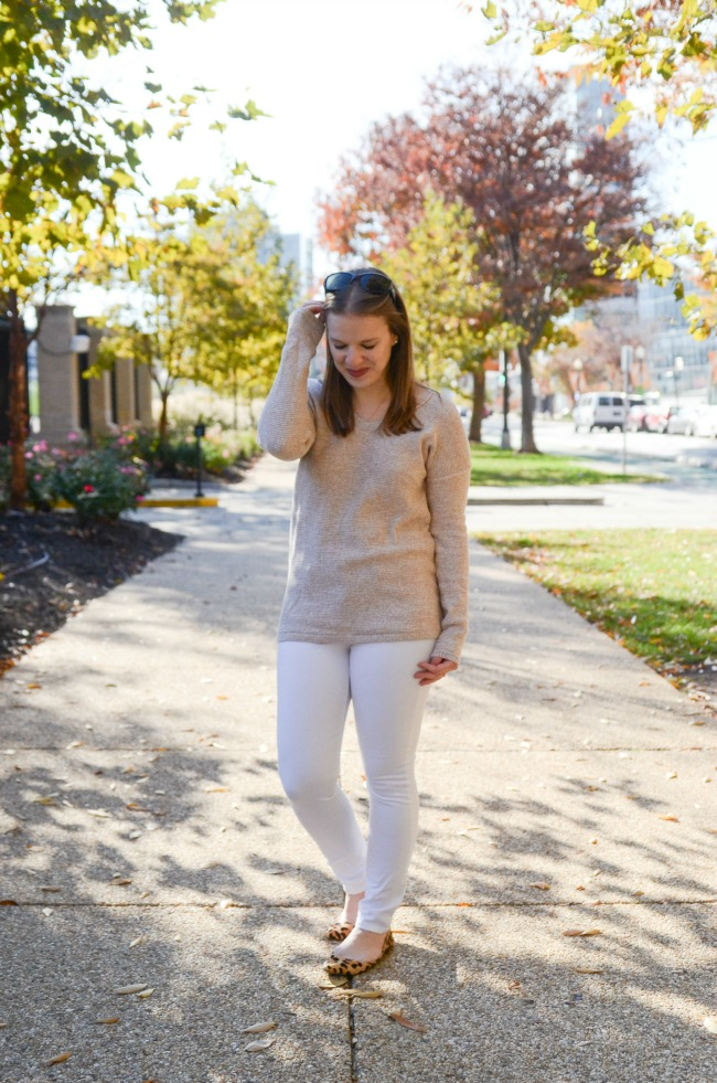 The White Jeans in the Winter | Something Good, white denim