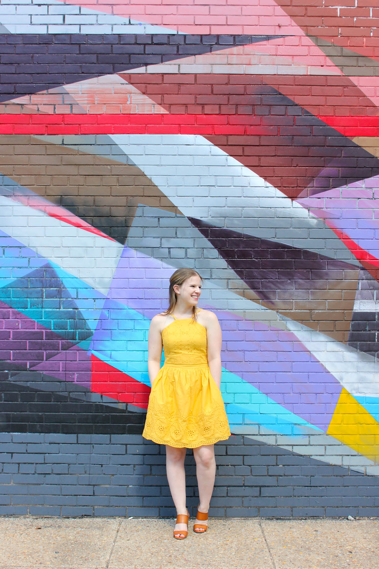 The Dress that Made Me Start Loving Abercrombie and Fitch | Something Good, @danaerinw , mural, inspiration, yellow fit and flare dress