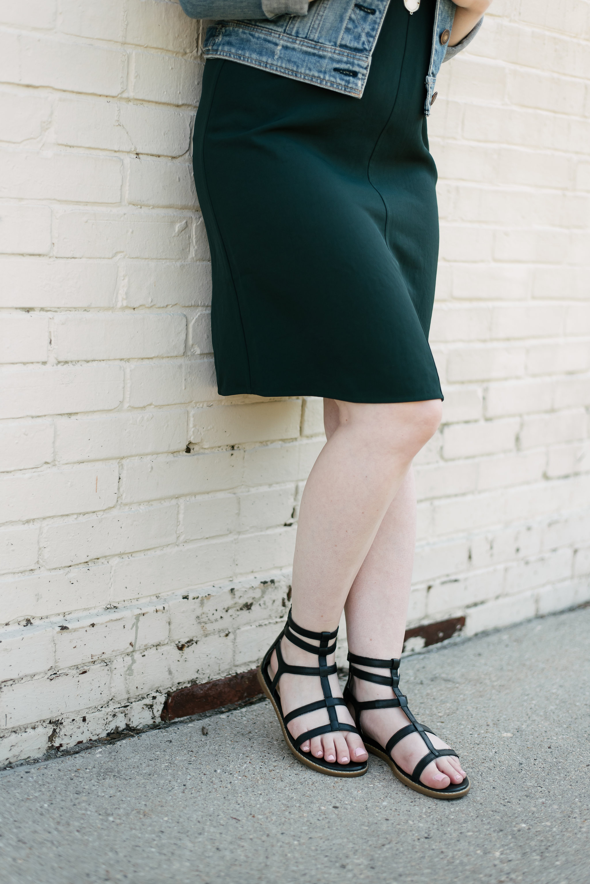 The Everlane GoWeave Tank Dress | Something Good, black sandals, hush puppy shoes, @danaerinw