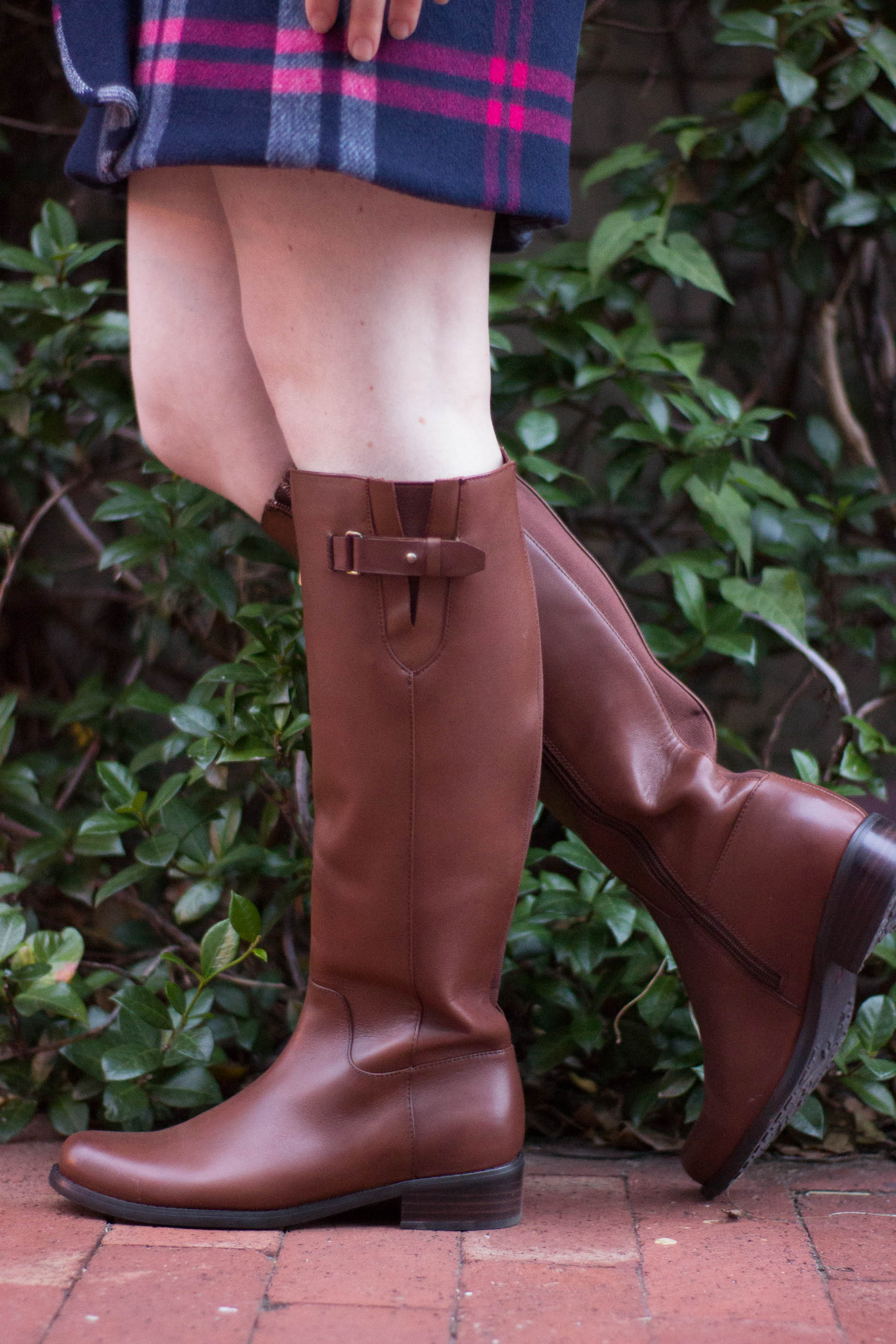 The 5 Days to Holiday Savings Challenge | Something Good, @danaerinw , blondo waterproof riding boot, brown riding boot, fall shoes, boots