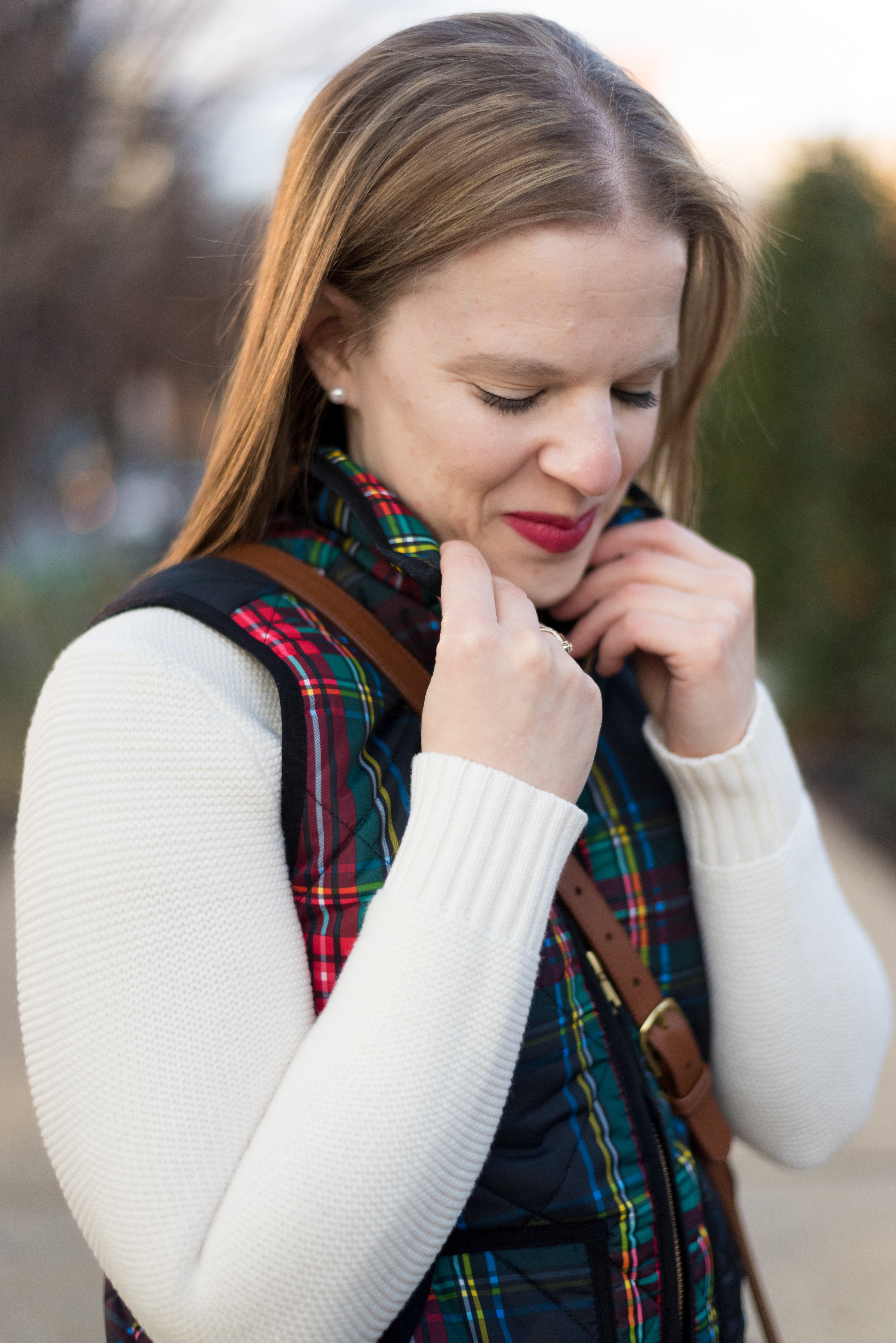 My 2018 Word of the Year, a Reader Survey, AND Giveaway (oh my!) | Something Good, @danaerinw , j.crew plaid vest, j.crew factory knit sweater