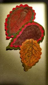 felted leaves