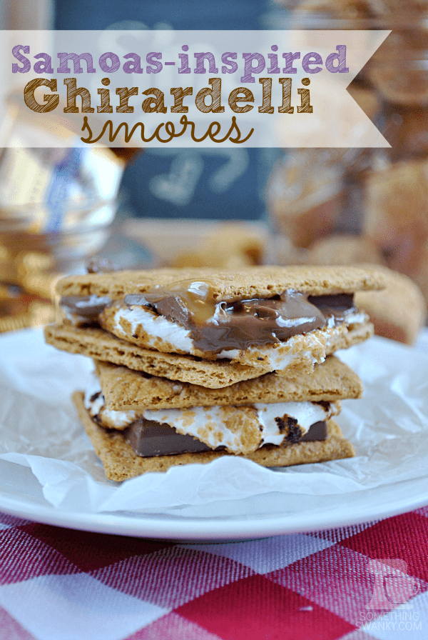 #Samoas Inspired #Ghirardelli S'mores from www.somethingswan... | Simple and gourmet all in one perfect classic #smore .