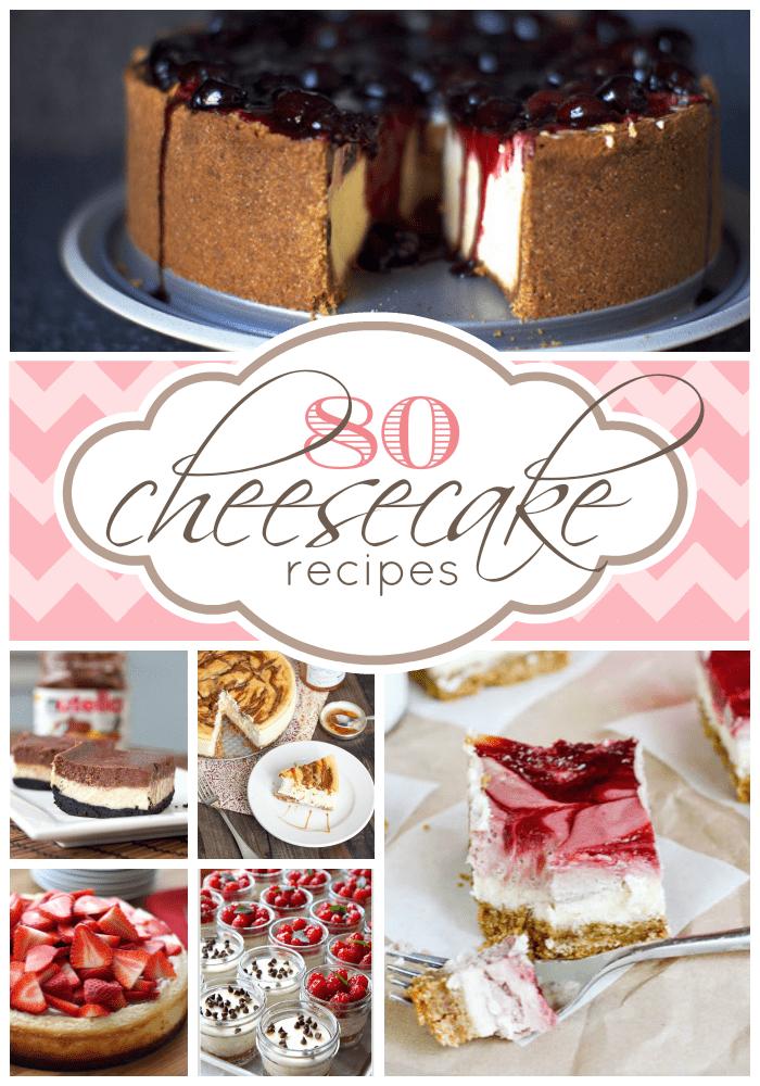 80 Cheesecake Recipes | www.somethingswanky.com
