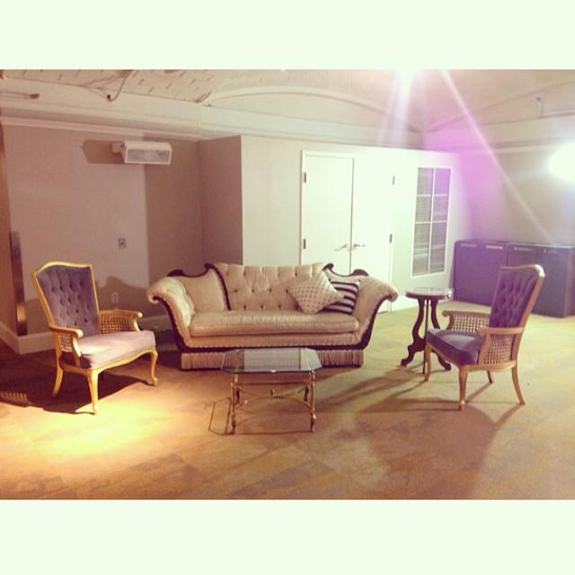 Lounge set up número dos for National Children's Hospital' gala  #dancingafterdark2015 with @cristinacalvertsignature  #juniorcouncil