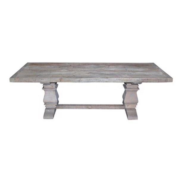 The tables we've been dying for—we're beyond excited to introduce our #reclaimed wood gray pedestal tables!!! Handmade and drop.dead.gorgeous!