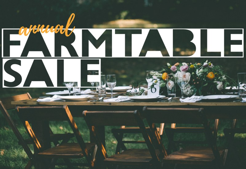 Farm Table Warehouse Sale