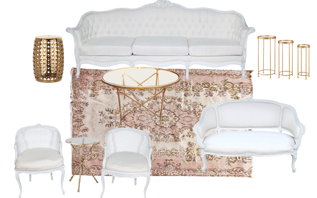 Our French Lounge Package    Cream and White Upholstered Furniture