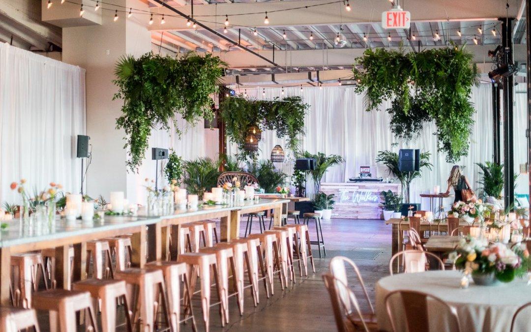 Sam + Jesse SNEAK PEEK || Industrial Meets Tropical Disco @ Dock 5 Wedding