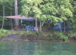 Campsite in the Thousand Islands on Wellesley Island