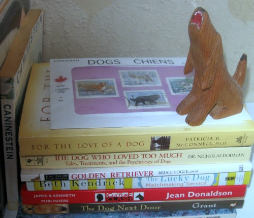 A small stack of dog books
