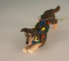 Get a custom ornament that looks like your dog from Etsy.