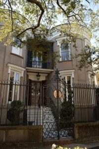 Charleston mansion with iron work.