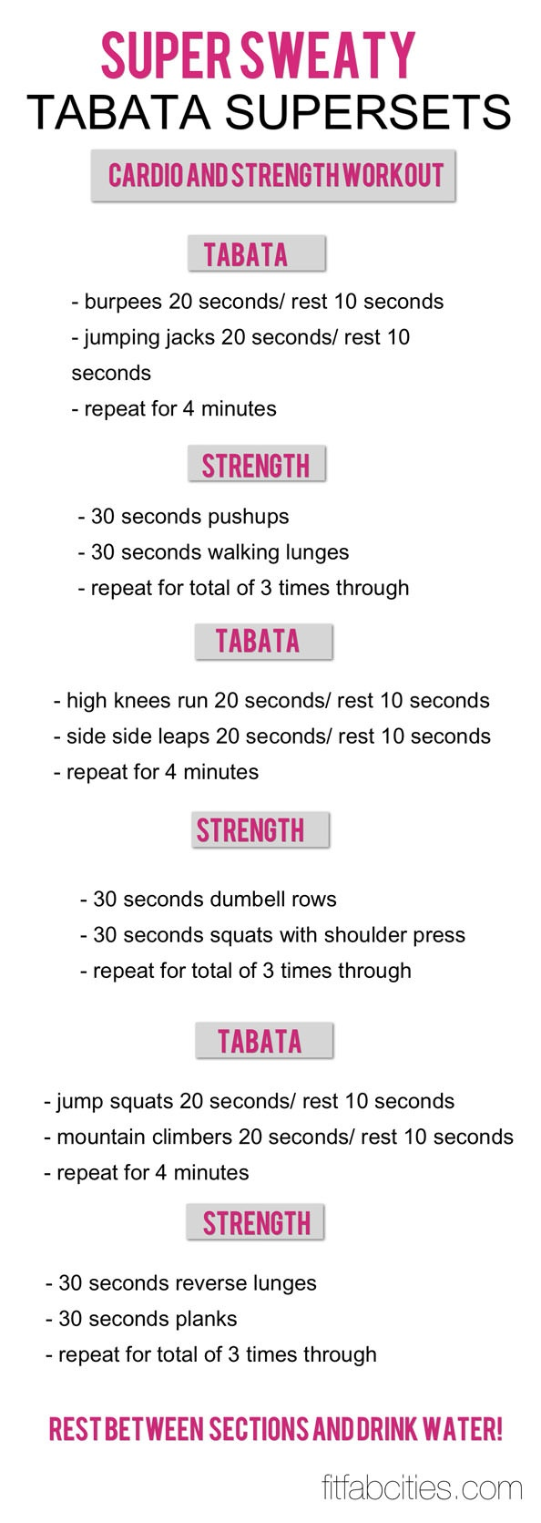 GNC Total Body Tabata Workout (via Blonde Ponytail): 5 extremely  challenging moves for 4 minutes a piece = an intense 20 minute workout.