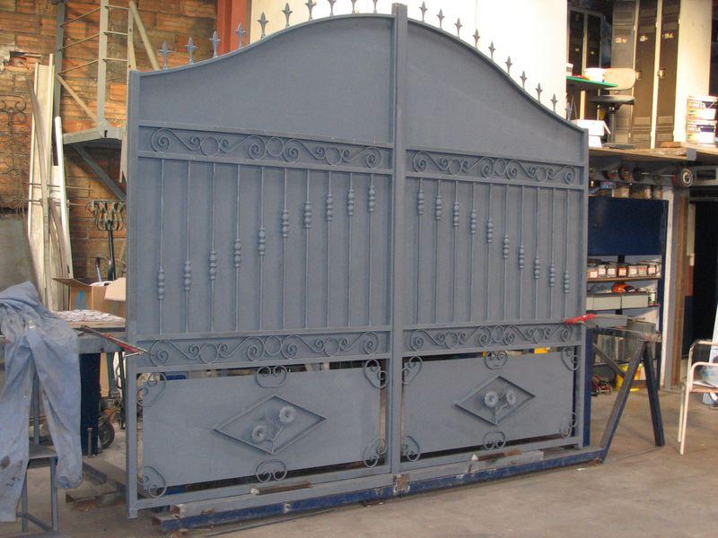 Portail Fer Forg Double Vantail Marseille Aix En Provence