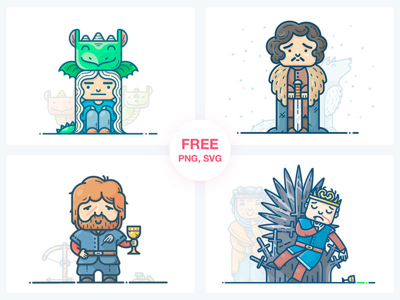 Game Of Thrones Characters Illustrations