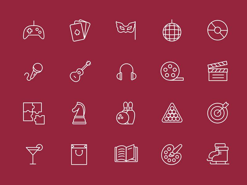 Leisure & Entertainment Icons