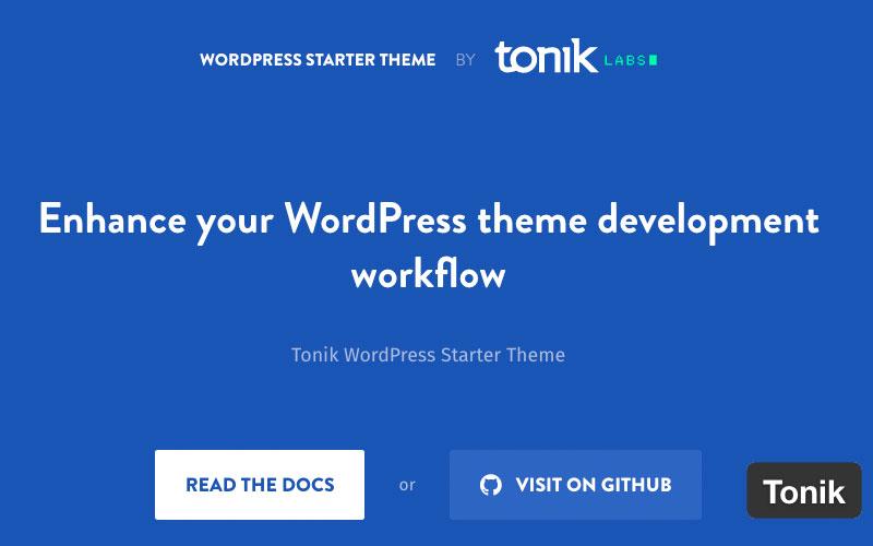 Tonik WordPress Starter Theme