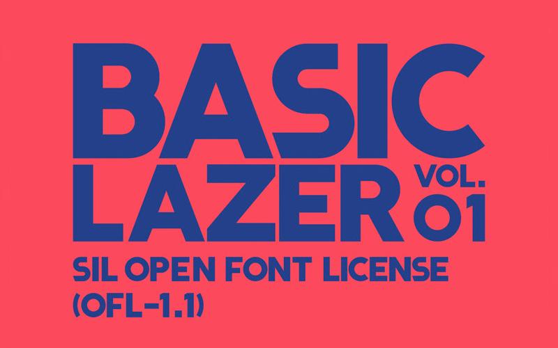 Basic Laser Font