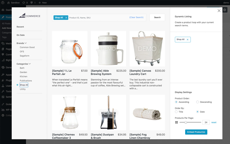 Bigcommerce For WordPress