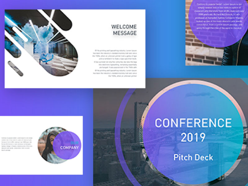 Conference Free Powerpoint Pitch Deck Template