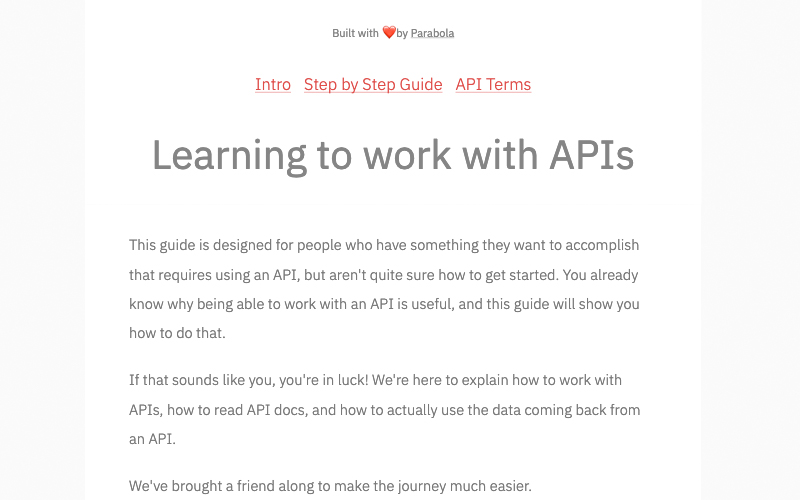 Learning To Work With Apis