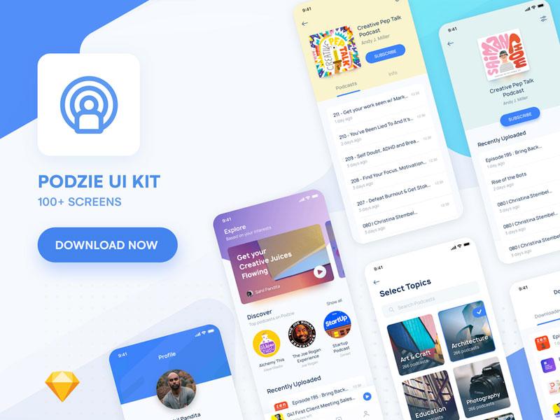 Podzie Ui Kit For Podcast App