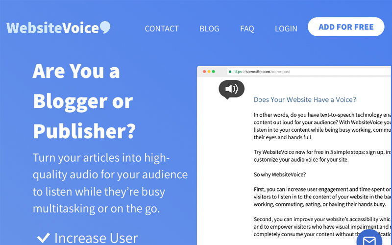 Website Voice