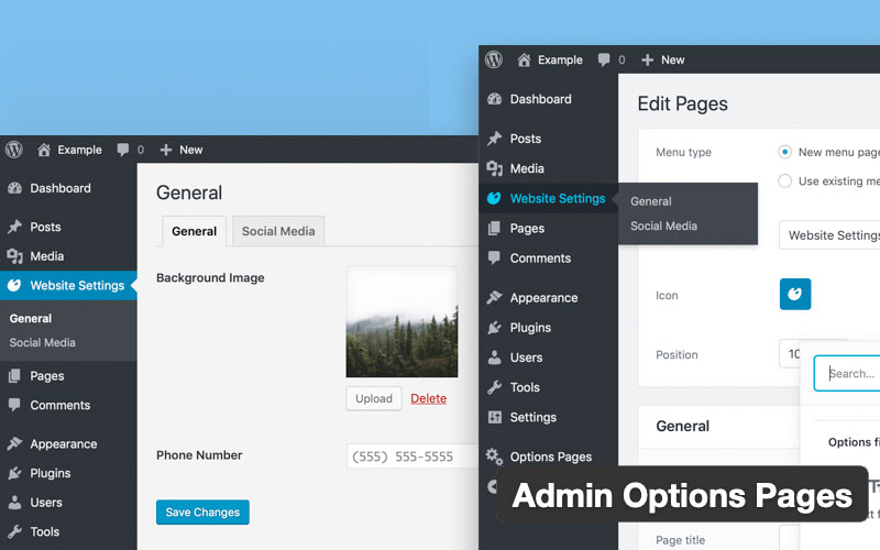 Admin Options Pages
